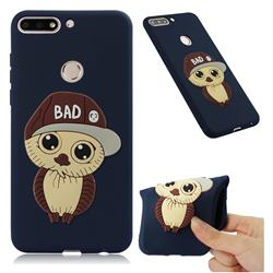 Bad Boy Owl Soft 3D Silicone Case for Huawei Y7(2018) - Navy