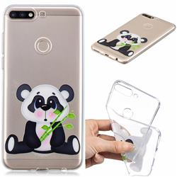 Bamboo Panda Clear Varnish Soft Phone Back Cover for Huawei Y7(2018)