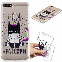 Batman Clear Varnish Soft Phone Back Cover for Huawei Y7(2018)