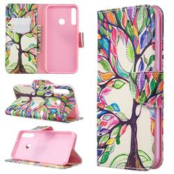 The Tree of Life Leather Wallet Case for Huawei Y7p