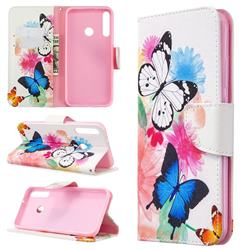Vivid Flying Butterflies Leather Wallet Case for Huawei Y7p