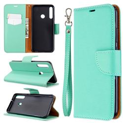 Classic Luxury Litchi Leather Phone Wallet Case for Huawei Y7p - Green