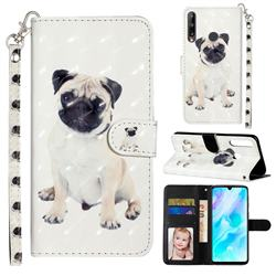 Pug Dog 3D Leather Phone Holster Wallet Case for Huawei Y7p