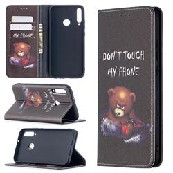 Chainsaw Bear Slim Magnetic Attraction Wallet Flip Cover for Huawei Y7p
