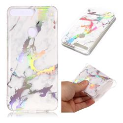 White Marble Pattern Bright Color Laser Soft TPU Case for Huawei Y7 Pro (2018) / Y7 Prime(2018) / Nova2 Lite