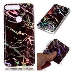 Black Brown Marble Pattern Bright Color Laser Soft TPU Case for Huawei Y7 Pro (2018) / Y7 Prime(2018) / Nova2 Lite