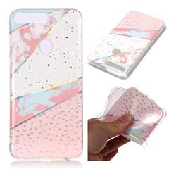 Matching Color Marble Pattern Bright Color Laser Soft TPU Case for Huawei Y7 Pro (2018) / Y7 Prime(2018) / Nova2 Lite