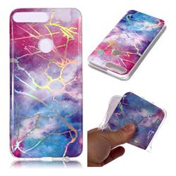 Dream Sky Marble Pattern Bright Color Laser Soft TPU Case for Huawei Y7 Pro (2018) / Y7 Prime(2018) / Nova2 Lite