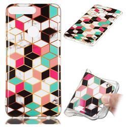 Three-dimensional Square Soft TPU Marble Pattern Phone Case for Huawei Y7 Pro (2018) / Y7 Prime(2018) / Nova2 Lite