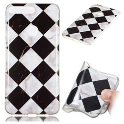 Black and White Matching Soft TPU Marble Pattern Phone Case for Huawei Y7 Pro (2018) / Y7 Prime(2018) / Nova2 Lite