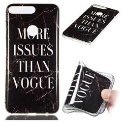 Stylish Black Soft TPU Marble Pattern Phone Case for Huawei Y7 Pro (2018) / Y7 Prime(2018) / Nova2 Lite