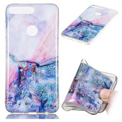 Purple Amber Soft TPU Marble Pattern Phone Case for Huawei Y7 Pro (2018) / Y7 Prime(2018) / Nova2 Lite