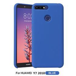 Howmak Slim Liquid Silicone Rubber Shockproof Phone Case Cover for Huawei Y7 Pro (2018) / Y7 Prime(2018) / Nova2 Lite - Sky Blue