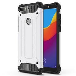 King Kong Armor Premium Shockproof Dual Layer Rugged Hard Cover for Huawei Y7 Pro (2018) / Y7 Prime(2018) / Nova2 Lite - White