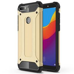King Kong Armor Premium Shockproof Dual Layer Rugged Hard Cover for Huawei Y7 Pro (2018) / Y7 Prime(2018) / Nova2 Lite - Champagne Gold