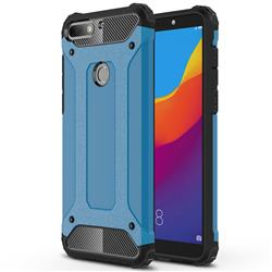 King Kong Armor Premium Shockproof Dual Layer Rugged Hard Cover for Huawei Y7 Pro (2018) / Y7 Prime(2018) / Nova2 Lite - Sky Blue