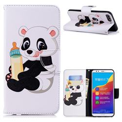 Baby Panda Leather Wallet Case for Huawei Y7 Pro (2018) / Y7 Prime(2018) / Nova2 Lite