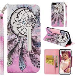 Angel Monternet Big Metal Buckle PU Leather Wallet Phone Case for Huawei Y7 Pro (2018) / Y7 Prime(2018) / Nova2 Lite