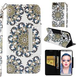 Phoenix Tail Big Metal Buckle PU Leather Wallet Phone Case for Huawei Y7 Pro (2018) / Y7 Prime(2018) / Nova2 Lite