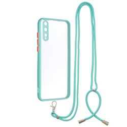 Necklace Cross-body Lanyard Strap Cord Phone Case Cover for Huawei Y8p - Blue