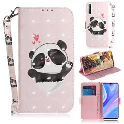 Heart Cat 3D Painted Leather Wallet Phone Case for Huawei Y8p