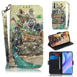 Beast Zoo 3D Painted Leather Wallet Phone Case for Huawei Y8p
