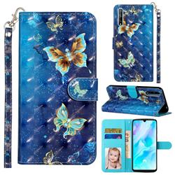 Rankine Butterfly 3D Leather Phone Holster Wallet Case for Huawei Y8p