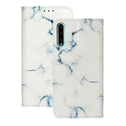 Soft White Marble PU Leather Wallet Case for Huawei Y8p