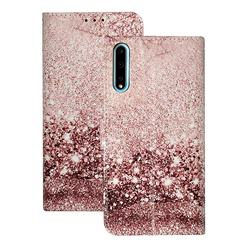 Glittering Rose Gold PU Leather Wallet Case for Huawei Y8p