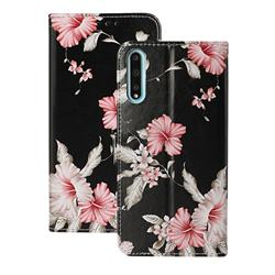 Azalea Flower PU Leather Wallet Case for Huawei Y8p