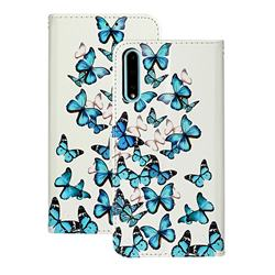 Blue Vivid Butterflies PU Leather Wallet Case for Huawei Y8p