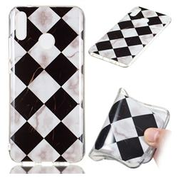 Black and White Matching Soft TPU Marble Pattern Phone Case for Huawei Y9 (2019)
