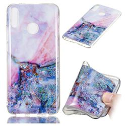 Purple Amber Soft TPU Marble Pattern Phone Case for Huawei Y9 (2019)