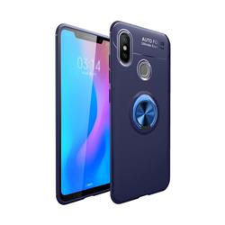 Auto Focus Invisible Ring Holder Soft Phone Case for Huawei Y9 (2019) - Blue