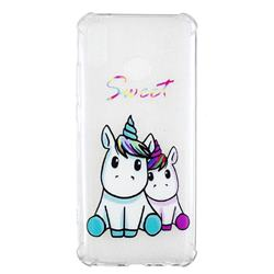 Sweet Unicorn Anti-fall Clear Varnish Soft TPU Back Cover for Huawei Y9 (2019)