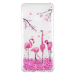Cherry Flamingo Anti-fall Clear Varnish Soft TPU Back Cover for Huawei Y9 (2019)