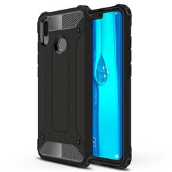 King Kong Armor Premium Shockproof Dual Layer Rugged Hard Cover for Huawei Y9 (2019) - Black Gold