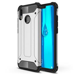 King Kong Armor Premium Shockproof Dual Layer Rugged Hard Cover for Huawei Y9 (2019) - Technology Silver