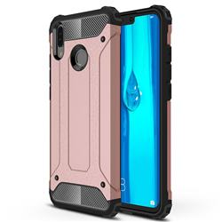 King Kong Armor Premium Shockproof Dual Layer Rugged Hard Cover for Huawei Y9 (2019) - Rose Gold
