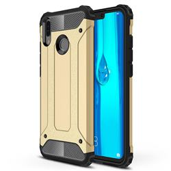 King Kong Armor Premium Shockproof Dual Layer Rugged Hard Cover for Huawei Y9 (2019) - Champagne Gold