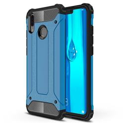 King Kong Armor Premium Shockproof Dual Layer Rugged Hard Cover for Huawei Y9 (2019) - Sky Blue