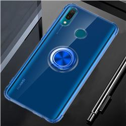 Anti-fall Invisible Press Bounce Ring Holder Phone Cover for Huawei Y9 (2019) - Sapphire Blue