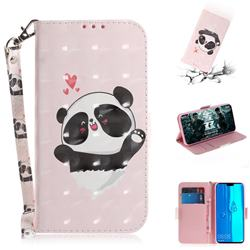 Heart Cat 3D Painted Leather Wallet Phone Case for Huawei Y9 (2019)