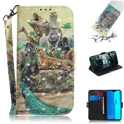 Beast Zoo 3D Painted Leather Wallet Phone Case for Huawei Y9 (2019)