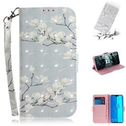 Magnolia Flower 3D Painted Leather Wallet Phone Case for Huawei Y9 (2019)