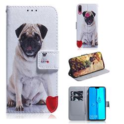 Pug Dog PU Leather Wallet Case for Huawei Y9 (2019)