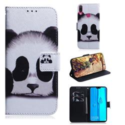 Sleeping Panda PU Leather Wallet Case for Huawei Y9 (2019)