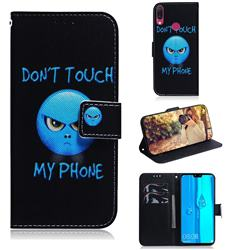 Not Touch My Phone PU Leather Wallet Case for Huawei Y9 (2019)