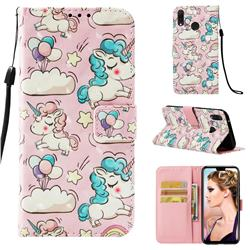 Angel Pony 3D Painted Leather Wallet Case for Huawei Y9 (2019)