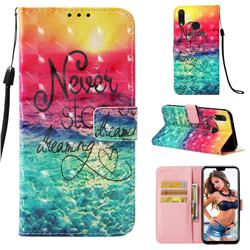 Colorful Dream Catcher 3D Painted Leather Wallet Case for Huawei Y9 (2019)